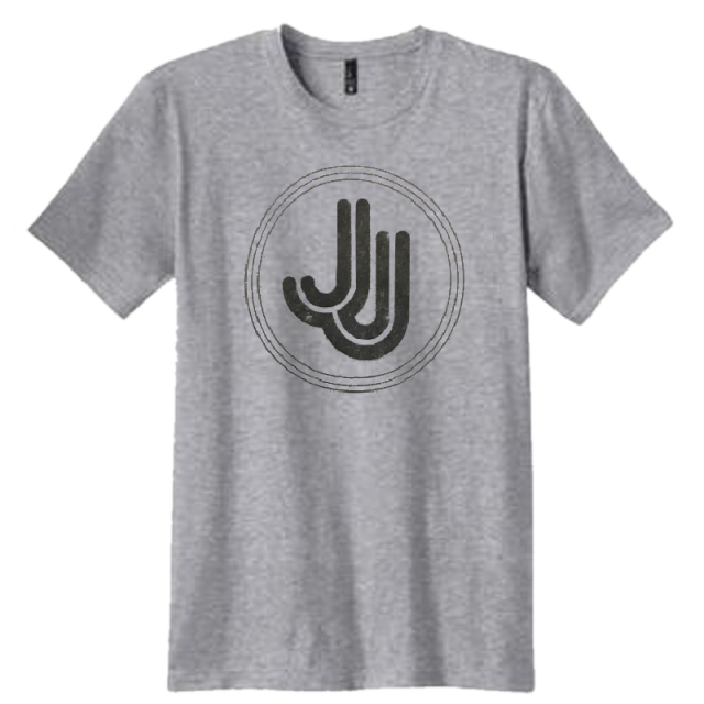 Jillian Jacqueline Heather Grey Logo Tee