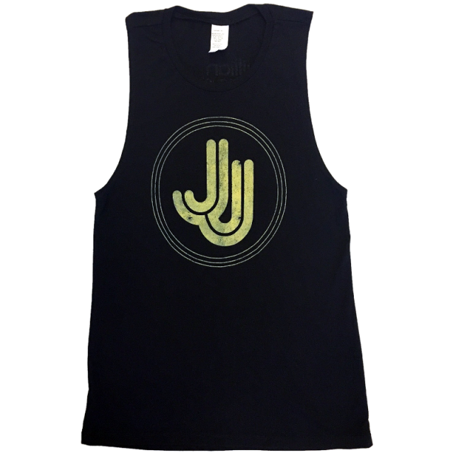 Jillian Jacqueline Ladies Black Muscle Tank