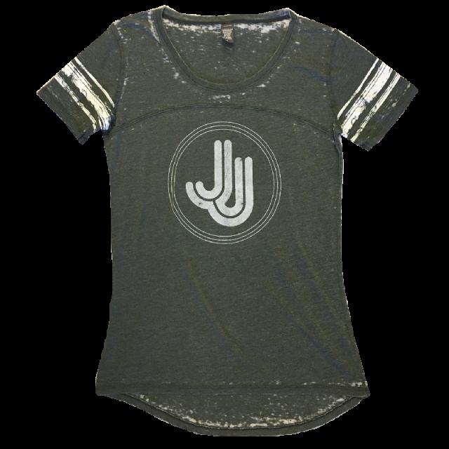 Jillian Jacqueline Grey Stripe Jersey